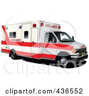 Royalty Free RF Clipart Illustration Of An Ambulance 1
