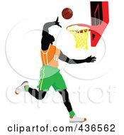 Royalty Free RF Clipart Illustration Of A Basketball Player 1 by leonid