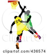 Royalty Free RF Clipart Illustration Of A Basketball Player 7