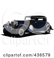 Royalty Free RF Clipart Illustration Of A Vintage Car 3