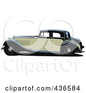 Royalty Free RF Clipart Illustration Of A Vintage Car 1
