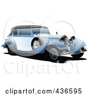 Royalty Free RF Clipart Illustration Of A Vintage Car 2