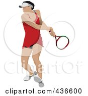 Royalty Free RF Clipart Illustration Of A Female Tennis Player 3