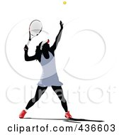 Royalty Free RF Clipart Illustration Of A Female Tennis Player 1