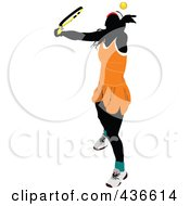 Royalty Free RF Clipart Illustration Of A Female Tennis Player 2