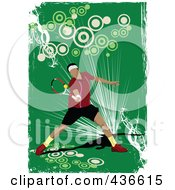 Royalty Free RF Clipart Illustration Of A Male Tennis Player Background 1