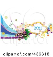 Royalty Free RF Clipart Illustration Of A 2011 New Year Background 3