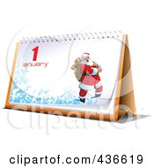 Royalty Free RF Clipart Illustration Of A New Year Desk Calendar 3
