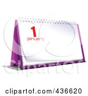 Royalty Free RF Clipart Illustration Of A New Year Desk Calendar 4