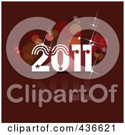Royalty Free RF Clipart Illustration Of A 2011 New Year Background 2