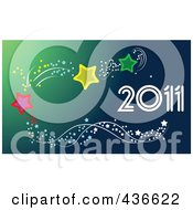 Royalty Free RF Clipart Illustration Of A 2011 New Year Background 4