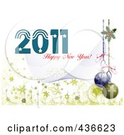 Royalty Free RF Clipart Illustration Of A 2011 New Year Background 5