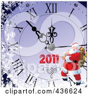 Royalty Free RF Clipart Illustration Of A 2011 New Year Background 6