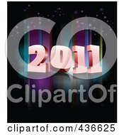 Royalty Free RF Clipart Illustration Of A 2011 New Year Background 1