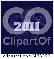 Royalty Free RF Clipart Illustration Of A 2011 New Year Background 7