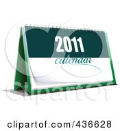 Royalty Free RF Clipart Illustration Of A New Year Desk Calendar 1