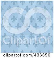 Blue Fleur De Lis Background