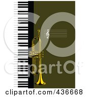 Royalty Free RF Clipart Illustration Of A Trumpet Background