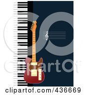 Royalty Free RF Clipart Illustration Of A Guitar Background by leonid