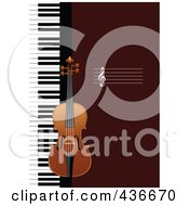 Royalty Free RF Clipart Illustration Of A Violin Background