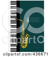 Royalty Free RF Clipart Illustration Of A Saxophone Background