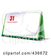 Royalty Free RF Clipart Illustration Of A Desk Calendar On December 31st