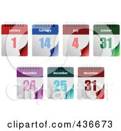 Royalty Free RF Clipart Illustration Of A Digital Collage Of Holiday Calendars