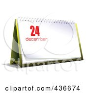 Royalty Free RF Clipart Illustration Of A Desk Calendar On December 24th
