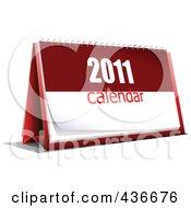 Royalty Free RF Clipart Illustration Of A New Year Desk Calendar 2
