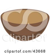 Clipart Illustration Of A Brown Kitchen Mixing Bowl
