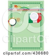Royalty Free RF Clipart Illustration Of A Green French Menu Background