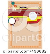 Royalty Free RF Clipart Illustration Of An Orange Spanish Menu Background