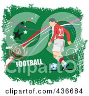 Soccer Player On Grungy Green by leonid