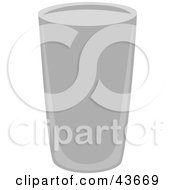 Clipart Illustration Of A Tall Gray Beverage Glass by mheld