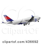 Royalty Free RF Clipart Illustration Of A Commercial Airplane 3