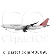Royalty Free RF Clipart Illustration Of A Commercial Airplane 1