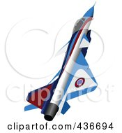 Royalty Free RF Clipart Illustration Of A Fast Jet