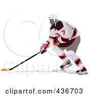 Royalty-Free (RF) Clipart Illustration of a Hockey Player - 1 by leonid