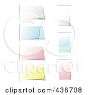 Royalty Free RF Clipart Illustration Of A Digital Collage Of Sticky Memos