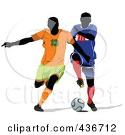 Two Soccer Players by leonid