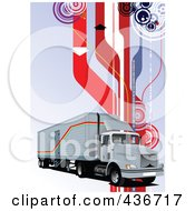 Royalty Free RF Clipart Illustration Of A Big Rig Background