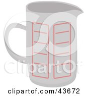 Clipart Illustration Of A White Measuring Cup