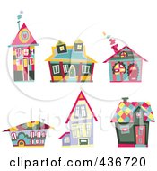 Digital Collage Of Colorful Houses