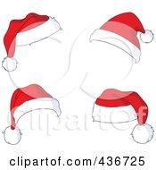 Royalty Free RF Clipart Illustration Of A Digital Collage Of Four Santa Hats by yayayoyo