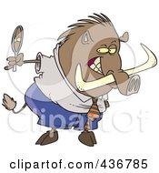 Royalty Free RF Clipart Illustration Of A Vain Boar Looking In A Mirror by toonaday