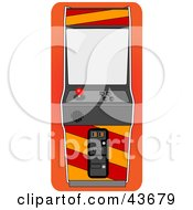 Clipart Illustration Of An Arcade Game Machine With A Joystick by mheld