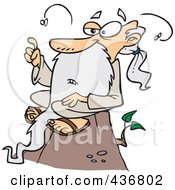 Royalty Free RF Clipart Illustration Of A Stinky Old Wise Man Sitting On A Hill by toonaday