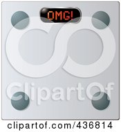 Royalty Free RF Clipart Illustration Of A 3d Glass Weight Scale With OMG On The Display