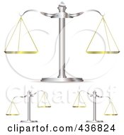 Royalty Free RF Clipart Illustration Of A Digital Collage Of 3d Scales
