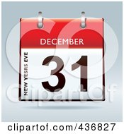 Royalty Free RF Clipart Illustration Of A 3d December 31st New Years Eve Calendar by michaeltravers